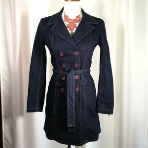 Arden B. Long Double Breasted Coat Size XS